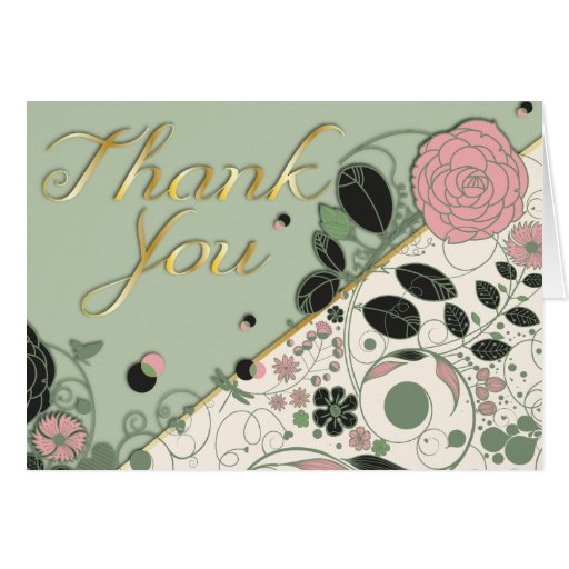Spring Style Thank You card - Ver-2 - 2
