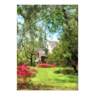 Spring - Suburban House With Azaleas Card