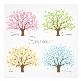 Spring Summer Autumn Winter Trees Photo Print