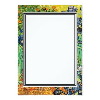 spring, summer blank invitation. van Gogh Custom Invite