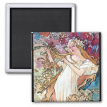 Spring Summer Fall Winter 2 Inch Square Magnet