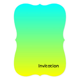 spring summer fashion yellow lime green ombre card