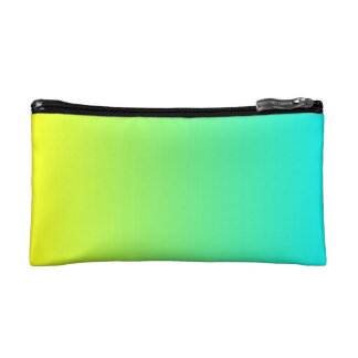 spring summer fashion yellow lime green ombre makeup bag