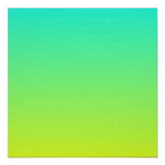 spring summer fashion yellow lime green ombre poster