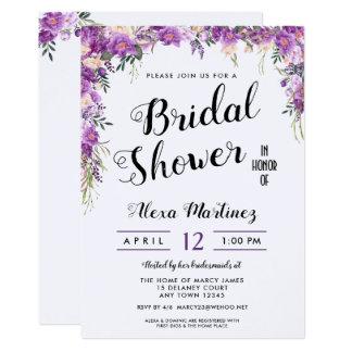 Spring Summer Floral Top Bridal Shower Invitation