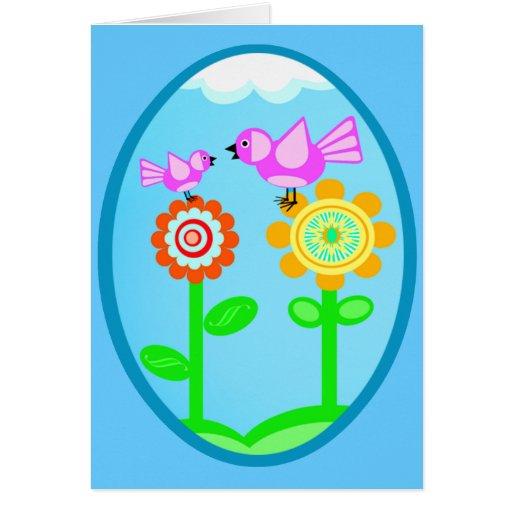 Spring / Summer Flowers & Birds Greeting Cards