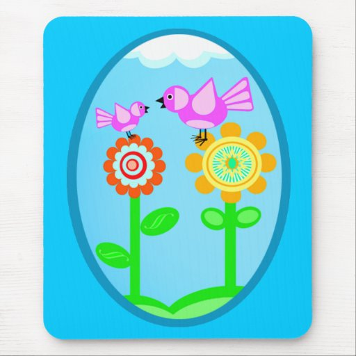 Spring / Summer Flowers & Birds Mouse Pad