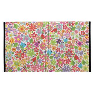 Spring Summer Flowers IPAD Caseable Folio Case iPad Folio Case