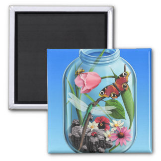 Spring/Summer in a Jar Refrigerator Magnets