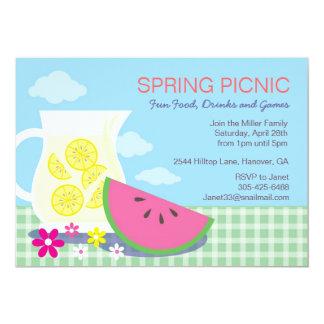 Spring Summer Picnic Party Invitations