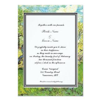 spring, summer wedding invitation. van Gogh Announcement