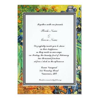 spring, summer wedding invitation. van Gogh Custom Announcements