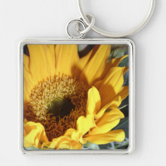 Spring Sunflower Yellow Flower Floral Print Key Chains
