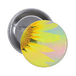 Spring sunflowers pinback buttons