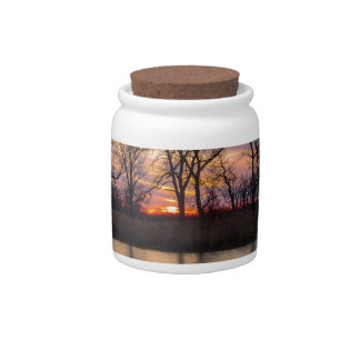 Spring Sunset Candy Jar