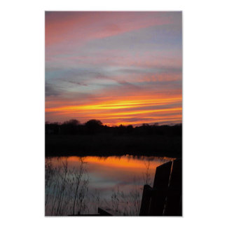 Spring Sunset Poster
