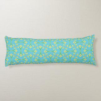 Spring Sunshine Daffodils on Sky Blue Body Pillow