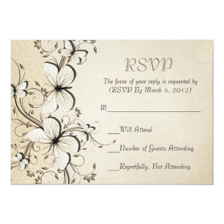 Spring Swirls Butterfly RSVP card