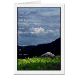 Spring Symphony - ee cummings poem card