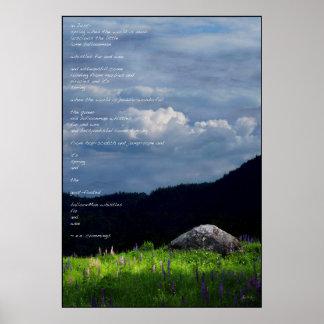 Spring Symphony - ee cummings poem poster