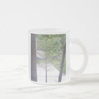 Spring Tamarack Frosted Glass Coffee Mug