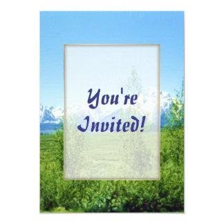 Spring Tetons 5x7 Paper Invitation Card