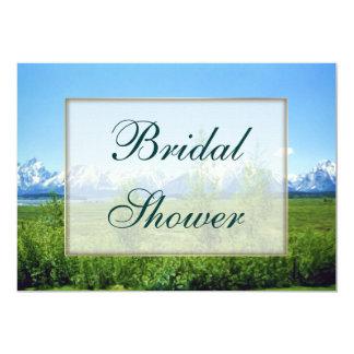 Spring Tetons Bridal Shower 5x7 Paper Invitation Card