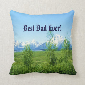 Spring Tetons Father's Day Throw Pillow