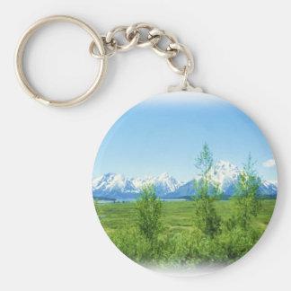 Spring Tetons keychain