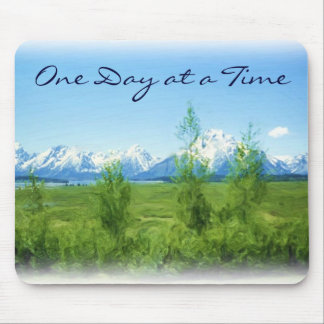 Spring Tetons One Day at a Time mousepad