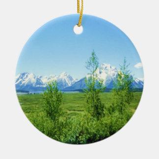 Spring Tetons ornament