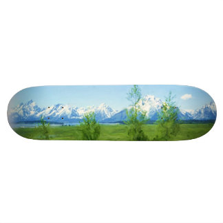 Spring Tetons skateboard