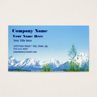 Spring Tetons VISION business card