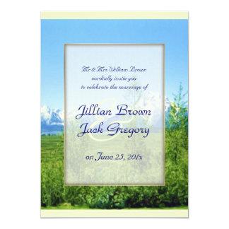 Spring Tetons WEDDING 5x7 Paper Invitation Card