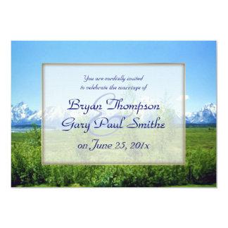 Spring Tetons WEDDING Custom Invitation