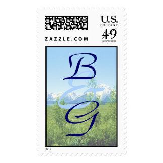 Spring Tetons WEDDING Postage Stamp