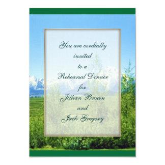 Spring Tetons WEDDING Rehearsal Dinner 5x7 Paper Invitation Card