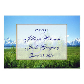 Spring Tetons Wedding RSVP 3.5x5 Paper Invitation Card