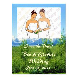 Spring Tetons WEDDING Save The Date Postcard