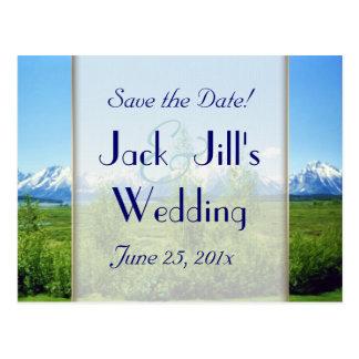 Spring Tetons WEDDING Save The Date Postcards