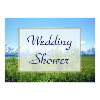 Spring Tetons WEDDING Shower 5x7 Paper Invitation Card