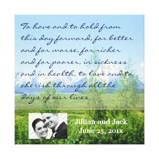Spring Tetons WEDDING Vows Display Canvas Print
