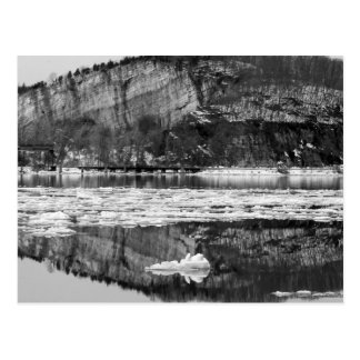 Spring Thaw Black and White Postcard