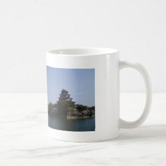Spring. The cherry tree the Hiroshima castle and Classic White Coffee Mug