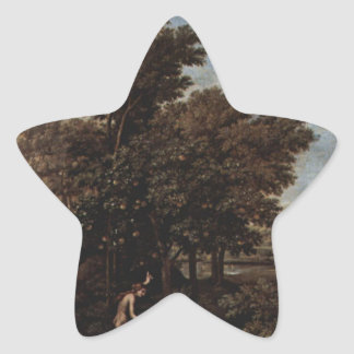 Spring (The Earthly Paradise) by Nicolas Poussin Star Sticker