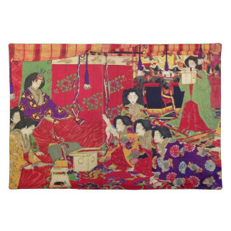 Spring the interest poetry party cloth placemat