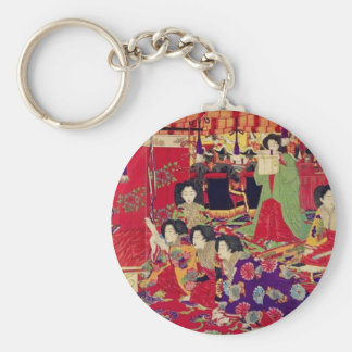 Spring the interest poetry party basic round button keychain
