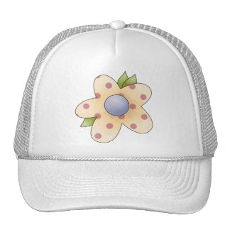 Spring Things · Apricot Flower Trucker Hat