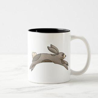 Spring Things · Grey Bunny Two-Tone Coffee Mug