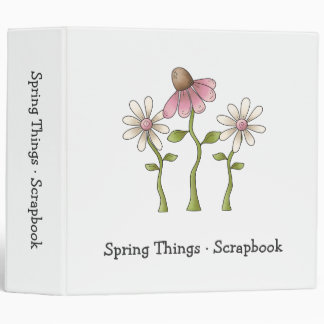 Spring Things · Pink Flowers Binder
